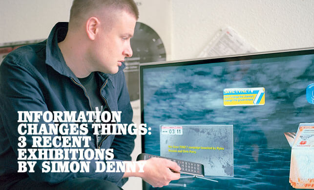 Vault Magazine - Simon Denny, Information Changes Things